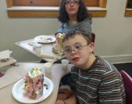 Teaming activity (gingerbread houses)
